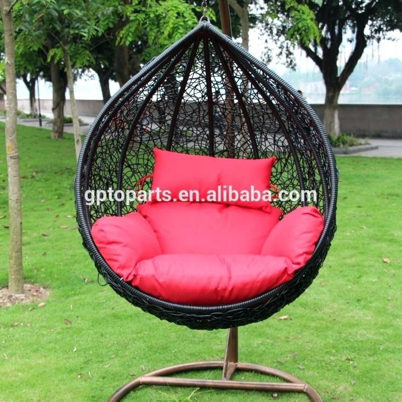 Free standing wicker egg chair in 2020 hanging swing