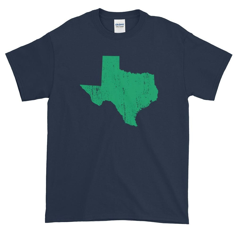 Texas Distressed State Shape Short-Sleeve T-Shirt