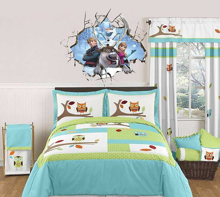 3D frozen wall decal stickers (With images) | Kids twin ...