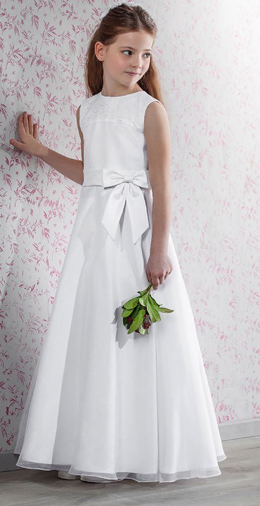 Full Length A- line First Communion Dress