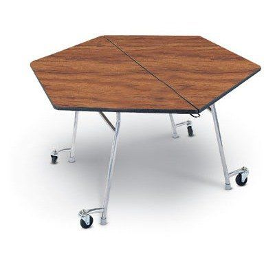 Midwest Folding Sht48 29 X 48 Hexagon Mobile Table Unit By