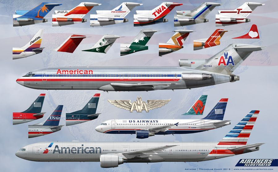History Of American Airlines And Us Airways Cool