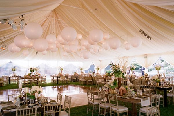 Gorgeous tented wedding reception