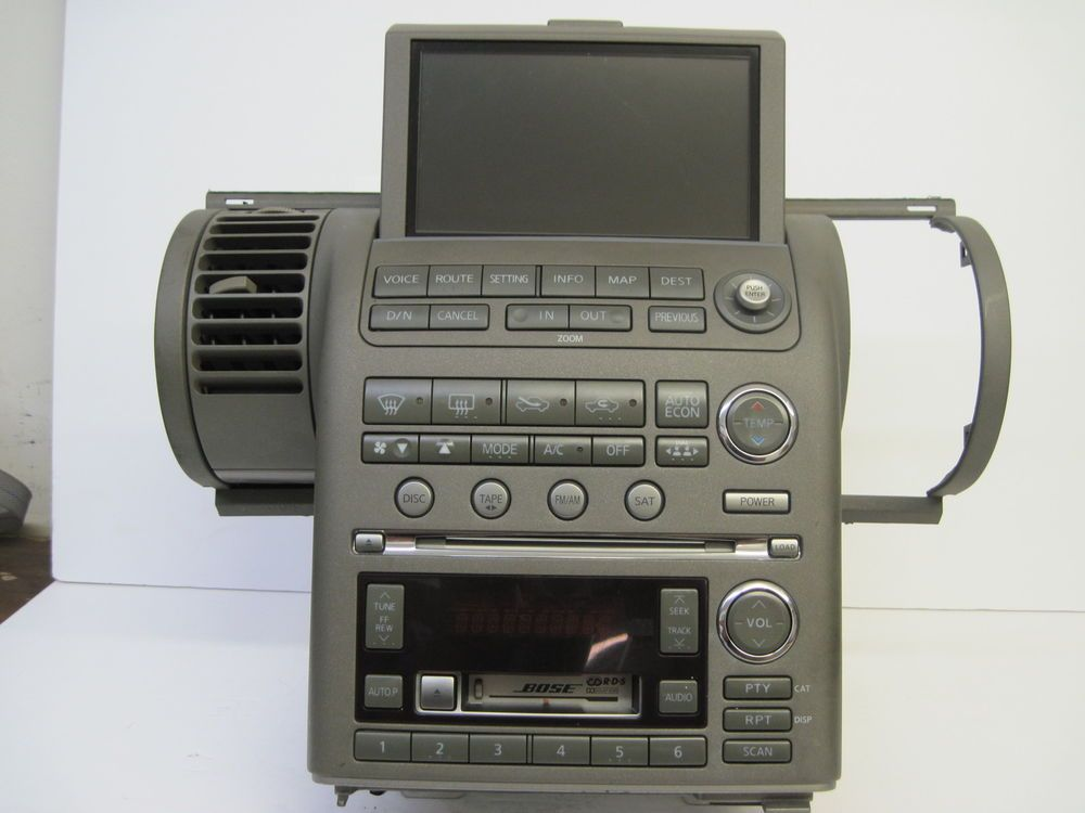 oem 2004 infiniti g35 bose am fm cass 6 cd w navigation. Black Bedroom Furniture Sets. Home Design Ideas