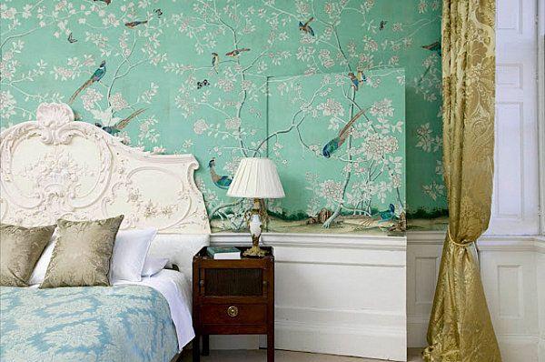 Mintgr n wandfarbe gestaltung schlafzimmer ideen for Sofa orientalischer stil