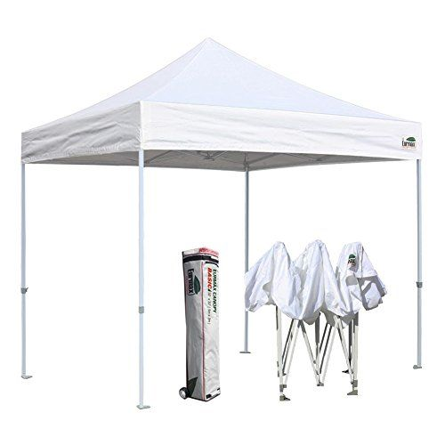 Eurmax Basic 10x10 Pop up Tent Instant Commercial Outdoor Canopy with Wheeled Carry Bag (White  sc 1 st  Pinterest : 10x10 commercial canopy - memphite.com