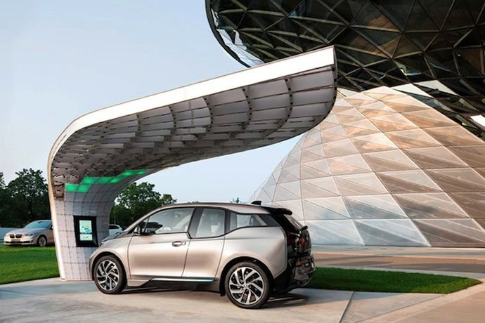 Solar Charging Station For Bmw I3 I8 Cars Electric Cars Solar