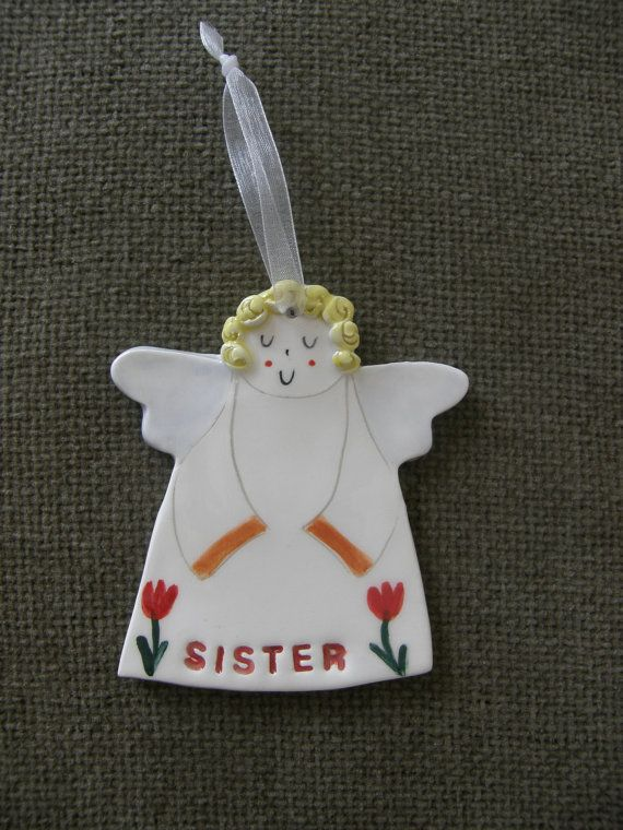 Angel For Sister Guardian Angel For Sister Angel Ornament Gift For