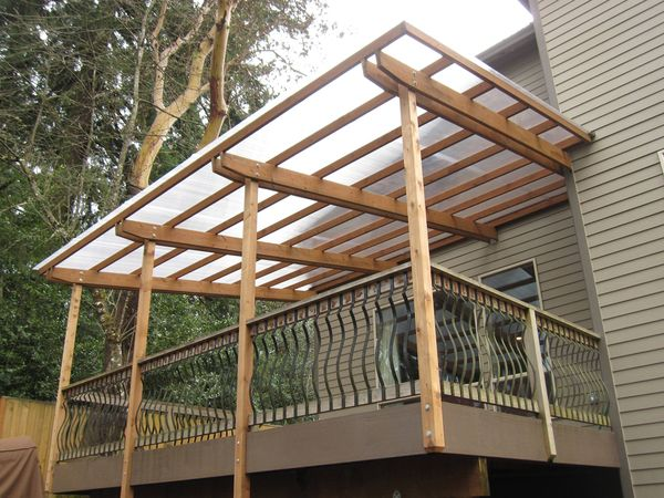 Roof Chunky Deck Cover Construction Pinterest Deck