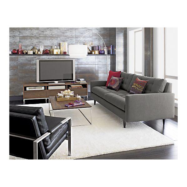 Lounge II Petite Leather 3-Seat 105
