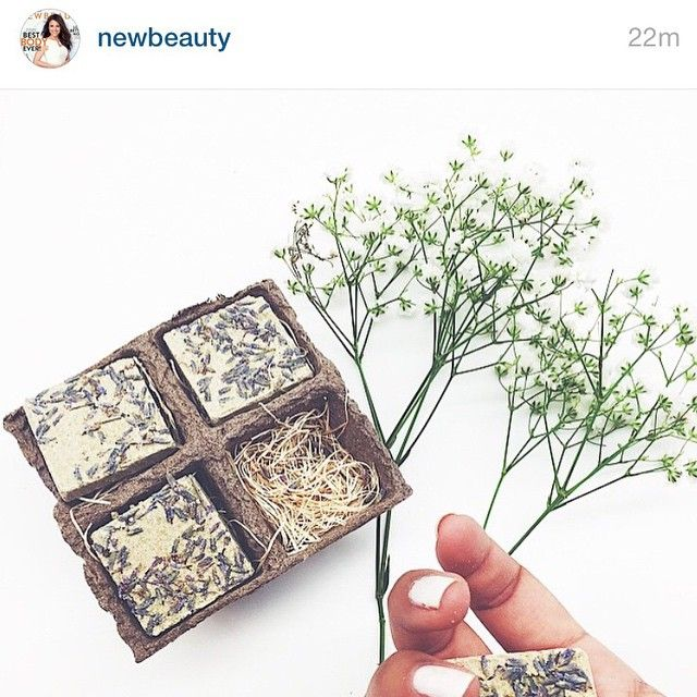 @newbeauty says their new favorite product is our Strawberry Lavender Buffing Biscuits... just a few drops of water and these 100% natural mud/milk/extract/butter exfoliation pastes make even the most sun-touched complexion feel smooth and luscious!