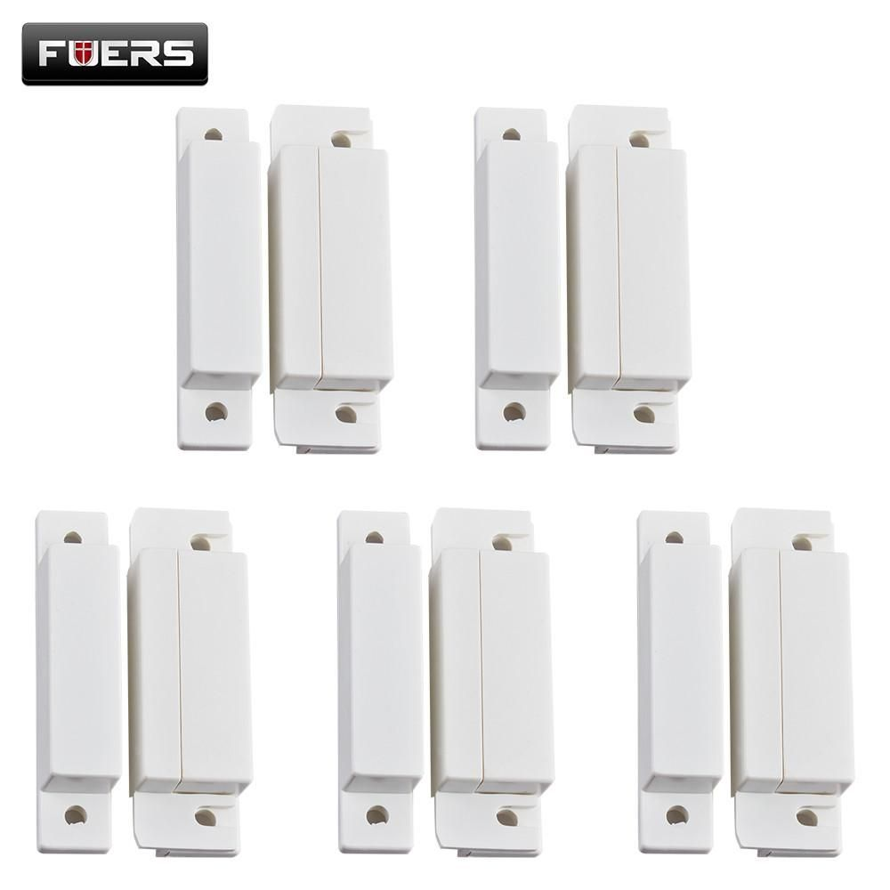 5pcs Lot Wired Door Window Magnetic Sensor Switch Work With Ptsn And Alarm Contact Wiring Series Gsm System