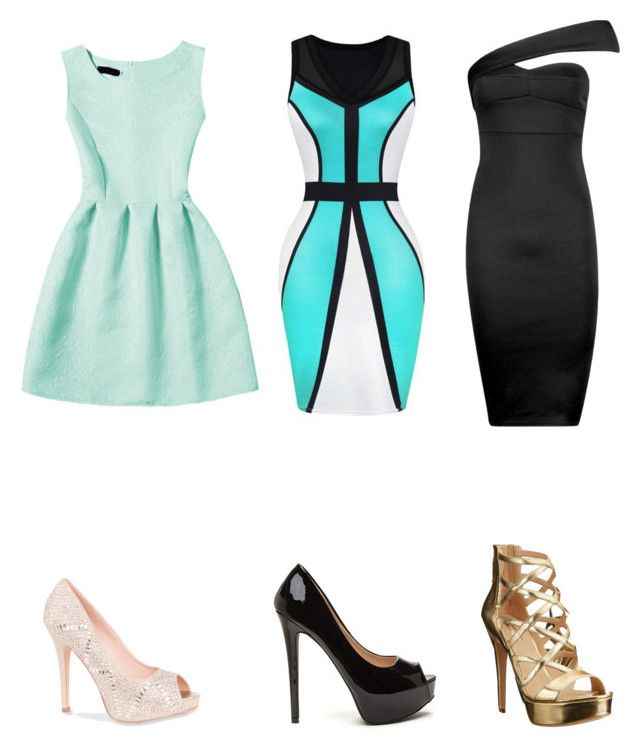 """""""Dresses for under $100"""" by caledonia2 ❤ liked on Polyvore featuring Boohoo, Lauren Lorraine and GUESS"""