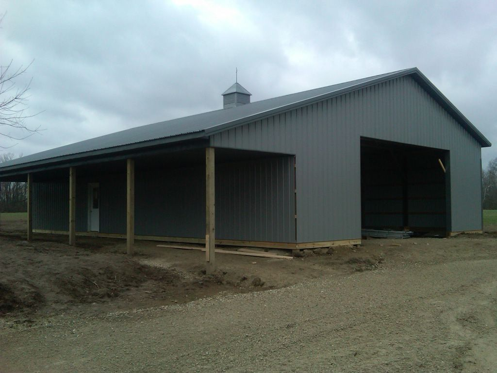 40x60 metal building cost pole barn kits central ohio for Pole barn garage designs