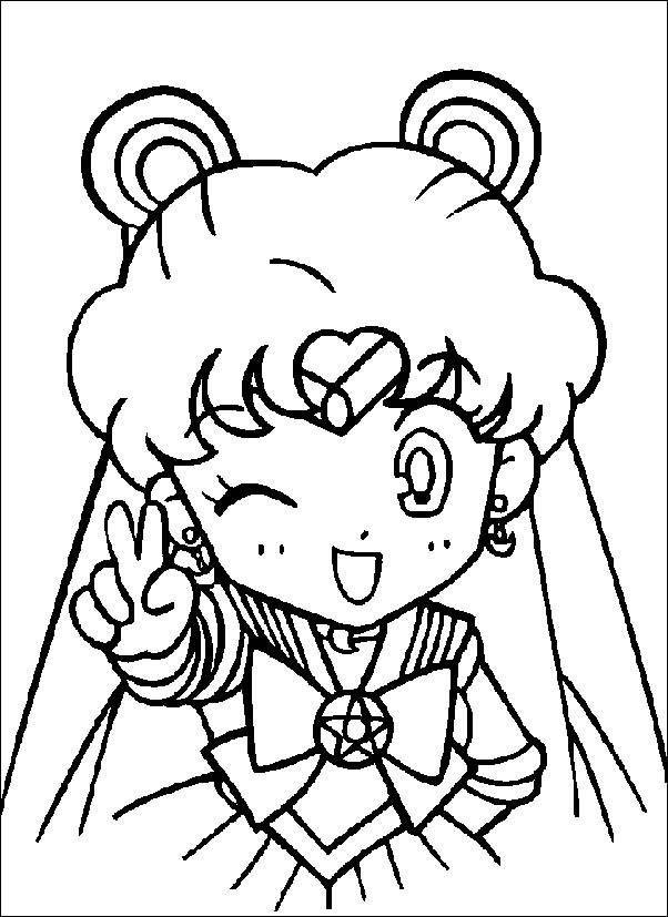 Cute Sailor Moon Coloring Page Sailor Moon Coloring Pages Moon Coloring Pages Cute Coloring Pages