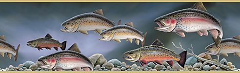 Trout Fish Wallpaper Border (With images) Fish wallpaper