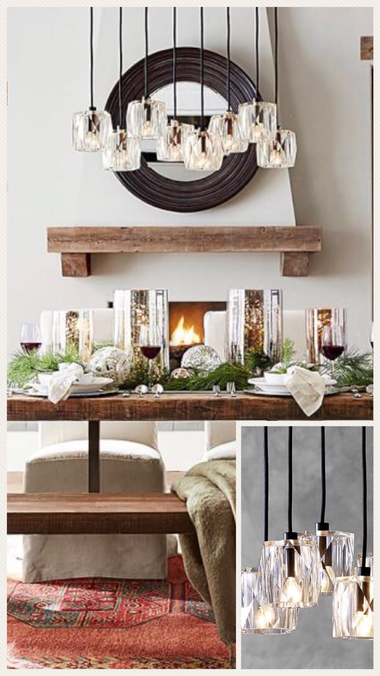 This Pottery Barn light is beautiful and would look ...