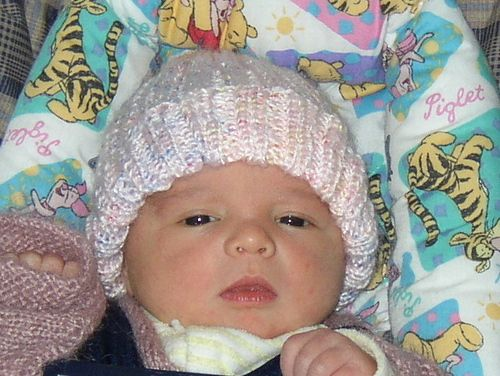 baby stocking hat patterns   aka Newborn-Plus Canadian Baby Hat ...