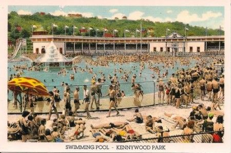 Old kennywood park swimming pool from bygone years - Riverview swimming pool pittsburgh pa ...