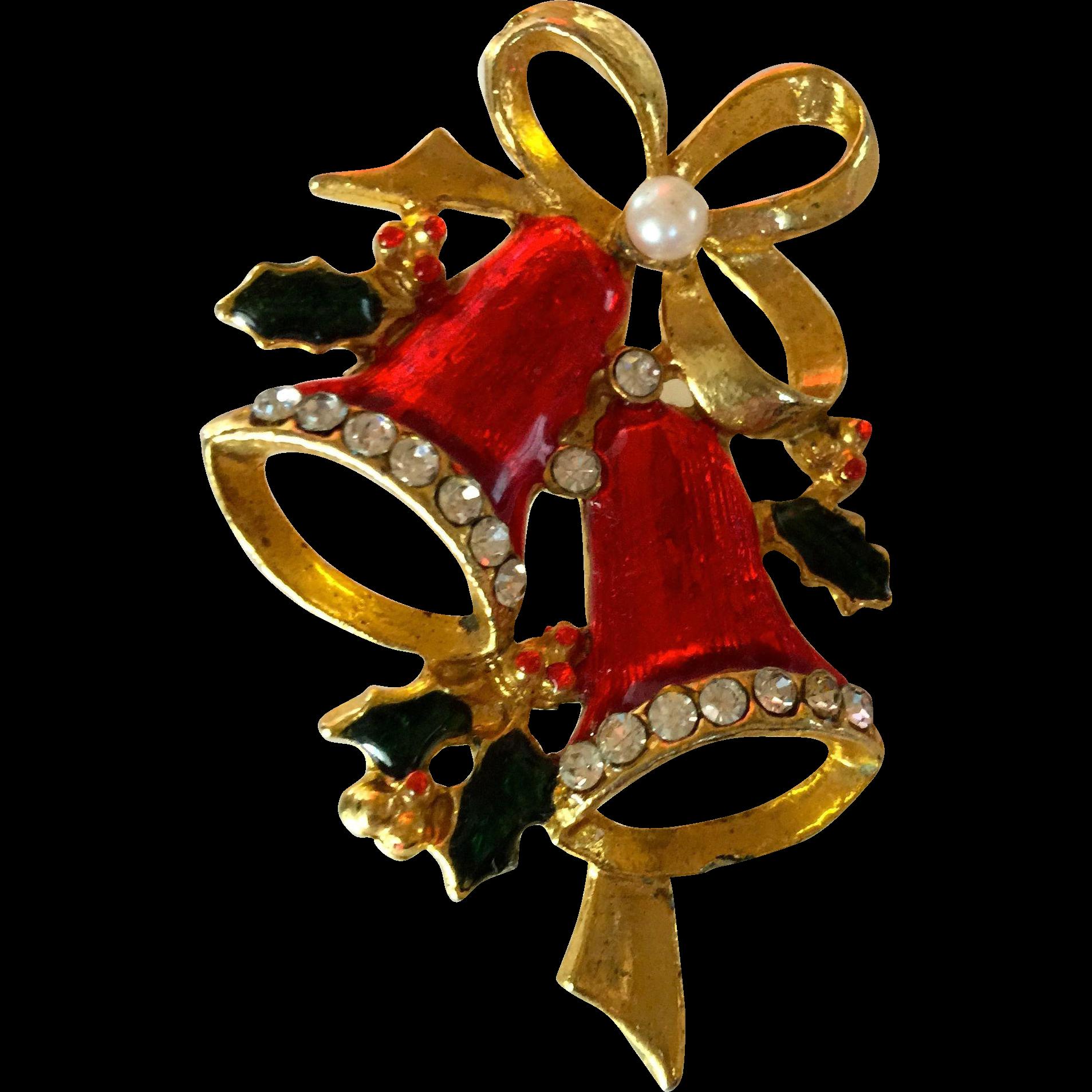 Jingle Bell Red Enamel Christmas Pin Found At Www Rubylane Com Vintagebeginshere Christmas Christmas Pins Christmas Art Christmas Jewerly