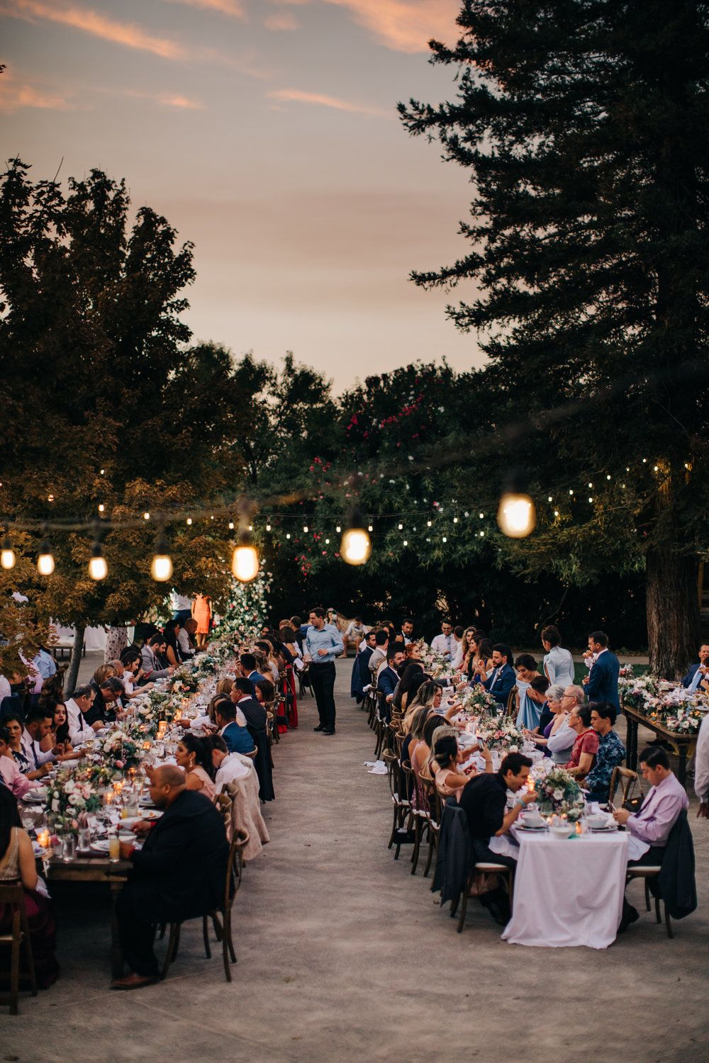 Outdoor Wedding Reception September Park Winters Wedding
