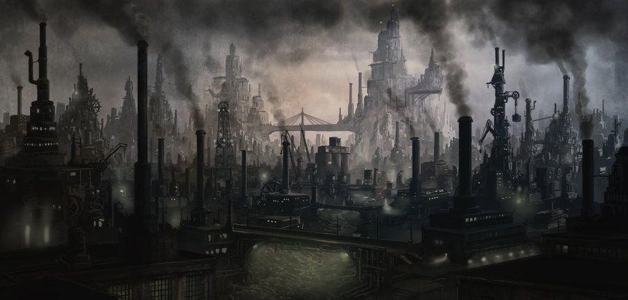 Resultado de imagem para steampunk pollution