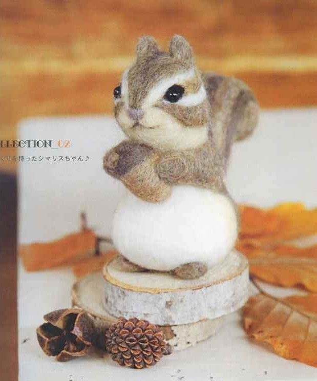 《Felt Wool Animal Collection 01》- Japanese Craft Book #feltedwoolanimals