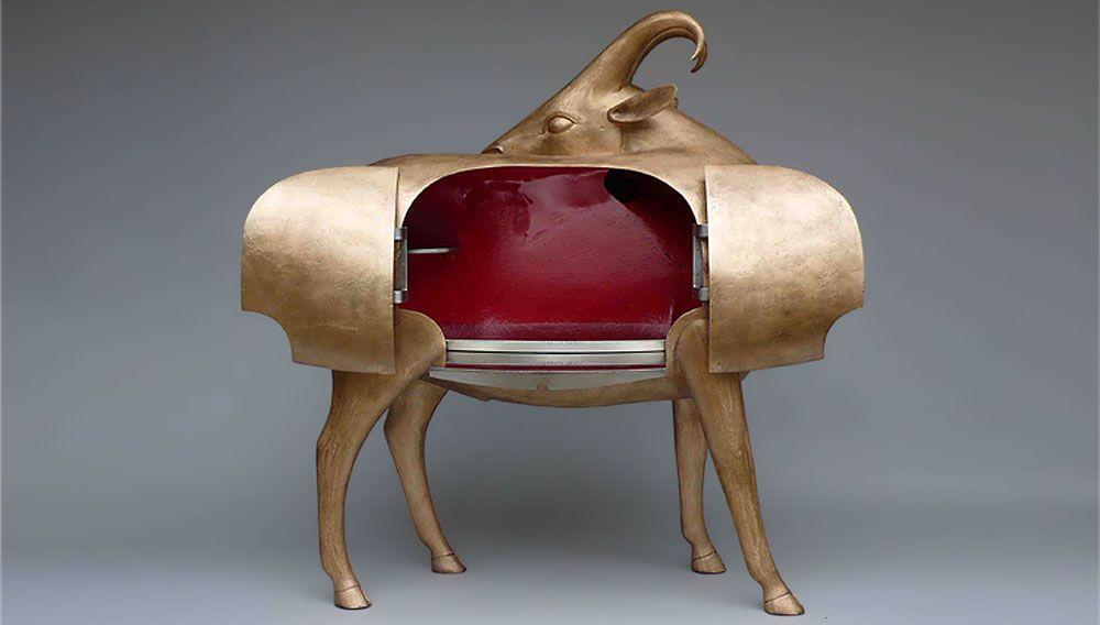 'mouflon de pauline' bronze cabinet by françois-xavier lalanne