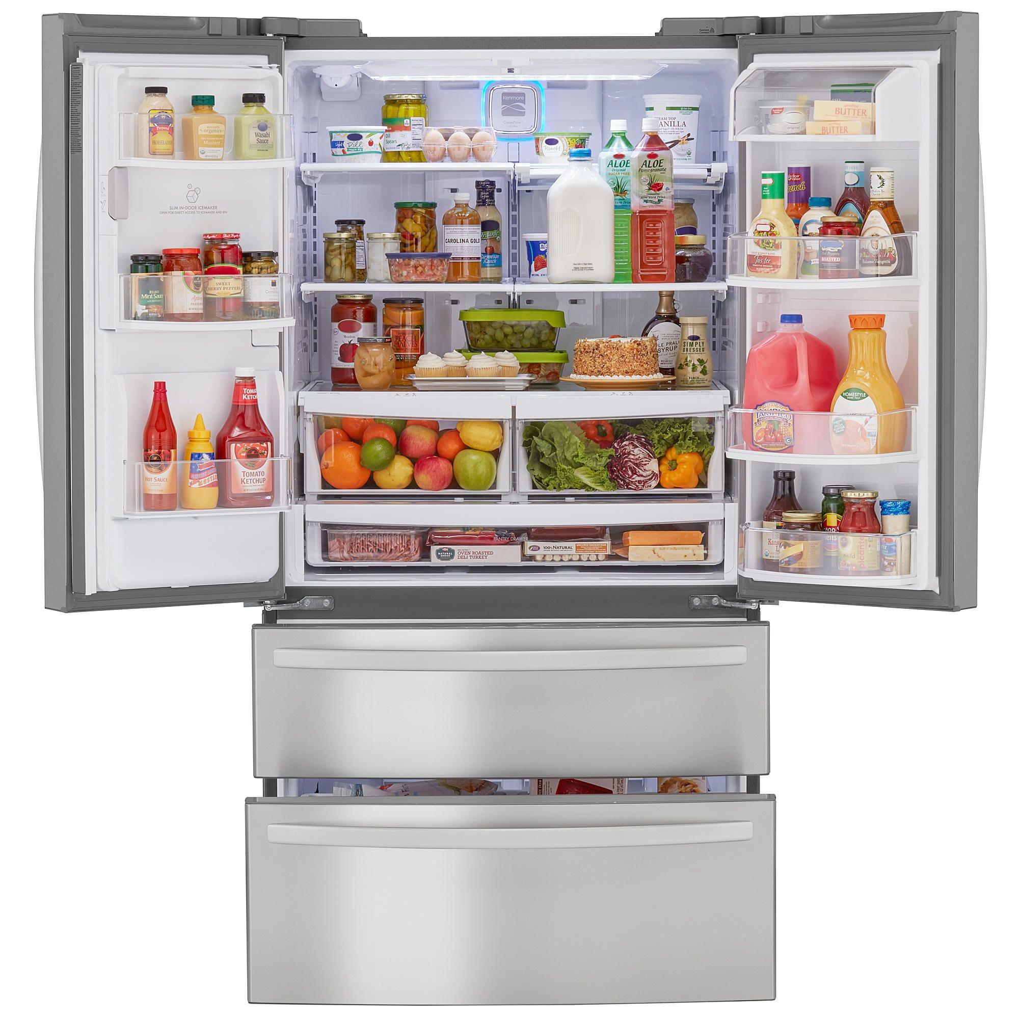 Kenmore Elite 29 8 Cu Ft French Door Bottom Freezer Refrigerator 2 French Door Bottom Freezer French Door Bottom Freezer Refrigerator Bottom Freezer