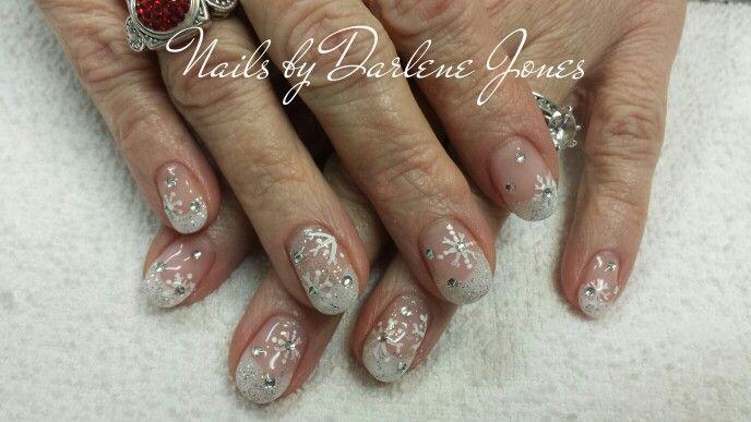 Snowflake nails by Darlene Jones