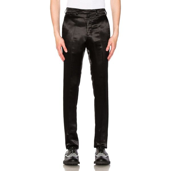Raf Simons Satin Slim Pants 1 005 Liked On Polyvore Featuring