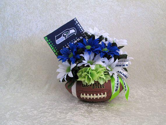 Gonzaga basketball fan silk flower arrangement blue red and white flower silk flower arrangement for seattle mightylinksfo