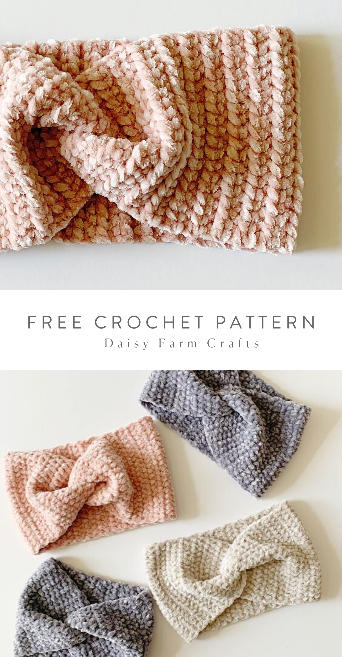 Free Pattern - Crochet Velvet Twist Headband