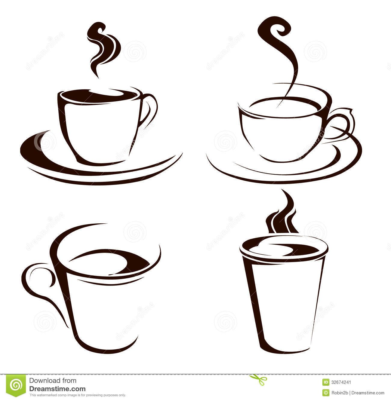 Coffee cup vector free - Coffee Cup Shapes Royalty Free Stock Photos Image 38123908