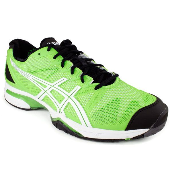 Asics Gel Solution Speed Tennis Shoes Neon Green/Black for $119.95