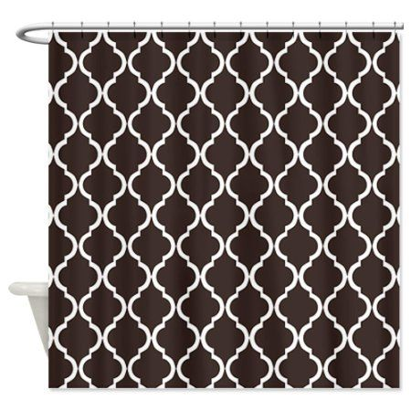 coral and brown shower curtain. Brown  CafePress Dark Moroccan Lattice Shower Curtain Standard