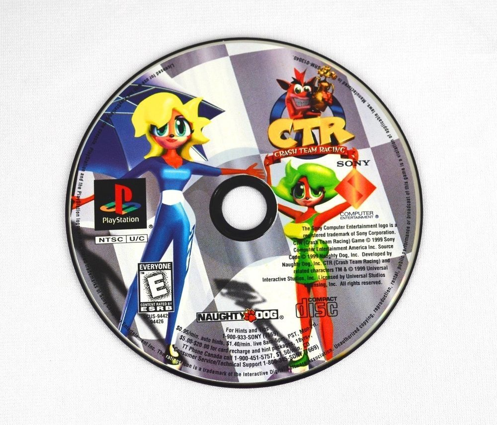 CTR - Crash Team Racing - Sony Playstation 1 - PS1 - DISC ONLY - Tested