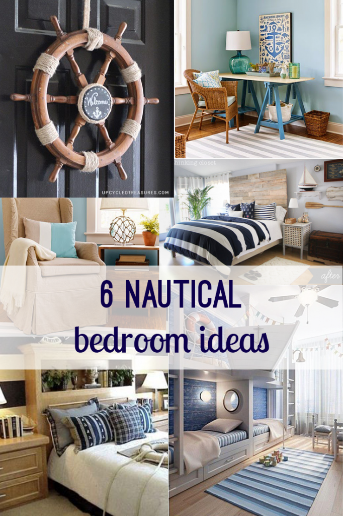 Nautical bedroom decor ideas - home, diy | Nautical bedroom ... on french country bathroom ideas pinterest, beadboard bathroom ideas pinterest, bathroom design ideas pinterest, diy bathroom ideas pinterest, beach bathroom ideas pinterest, white bathroom ideas pinterest,