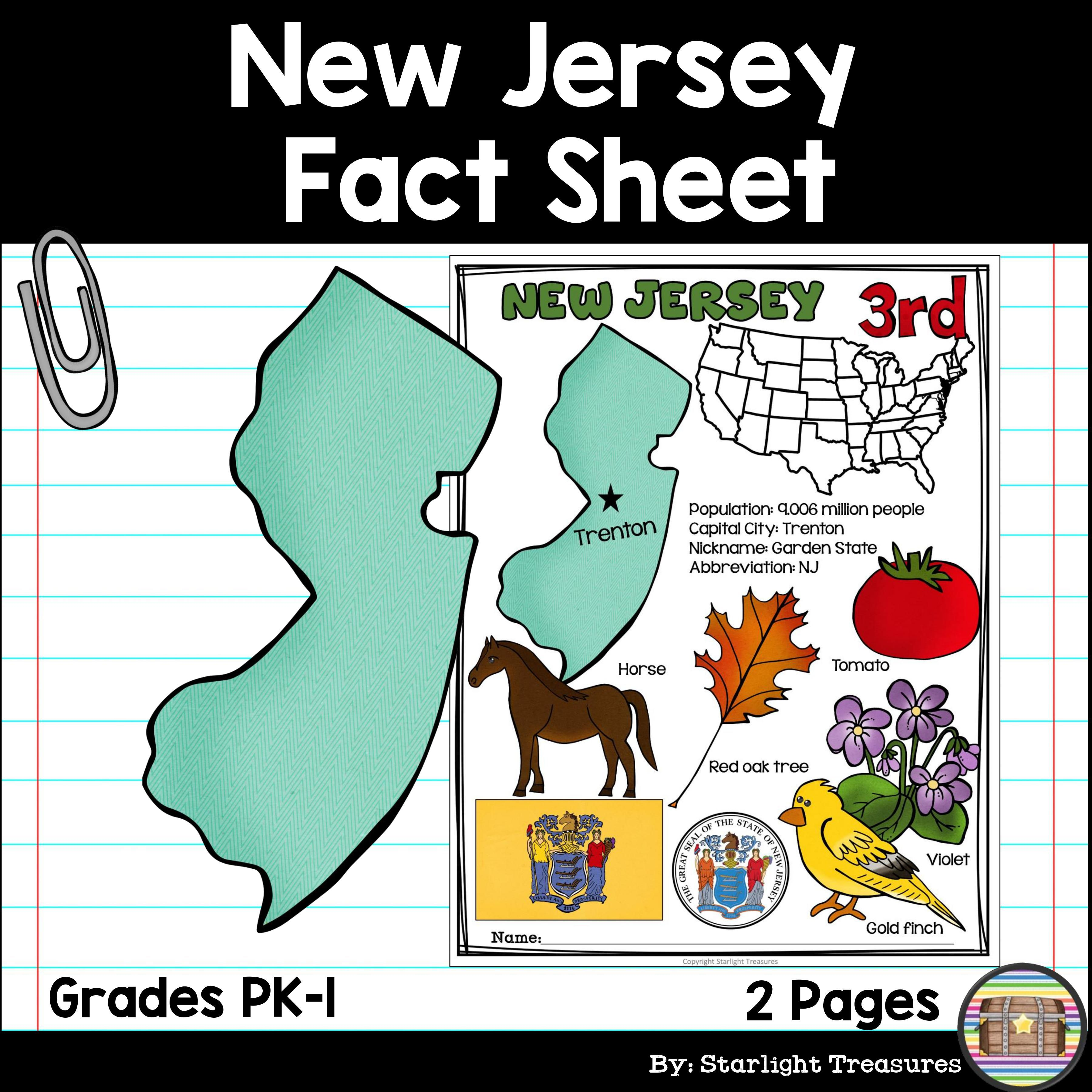 New Jersey Fact Sheet New jersey, Facts, Nevada facts