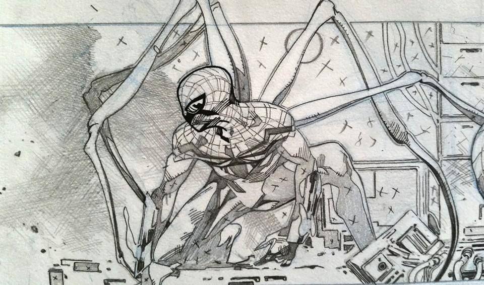 Spider-Verse sketch by Olivier Coipel