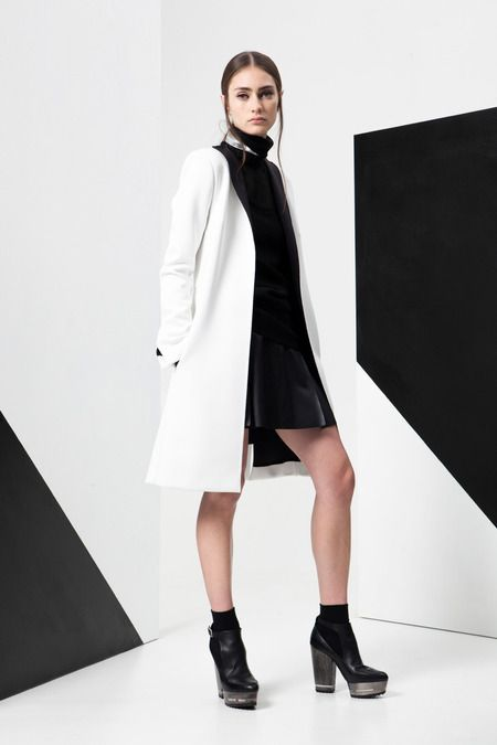 ADEAM | Resort 2015 Collection | Style.com <--don't think the chunky boots are working with the boxy silhouettes...