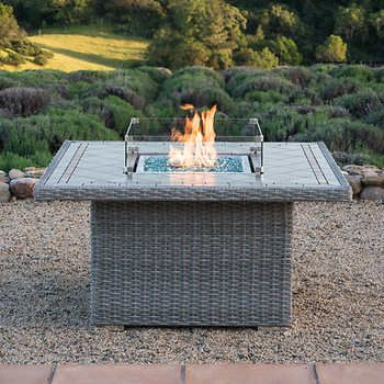 Sirio Niko Grey Propane Fire Pit Table Outdoor Fire
