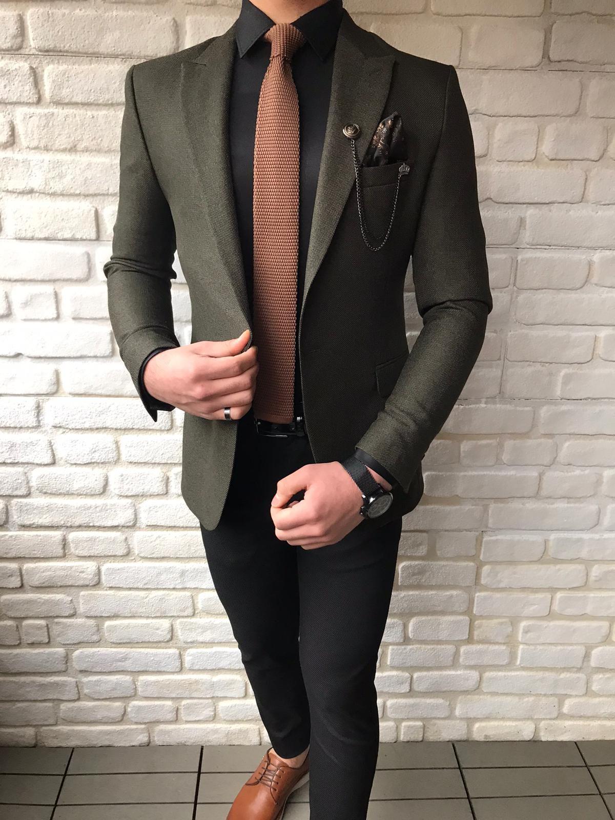 Fremont khaki slim fit wool blazer in 2020 wool blazer