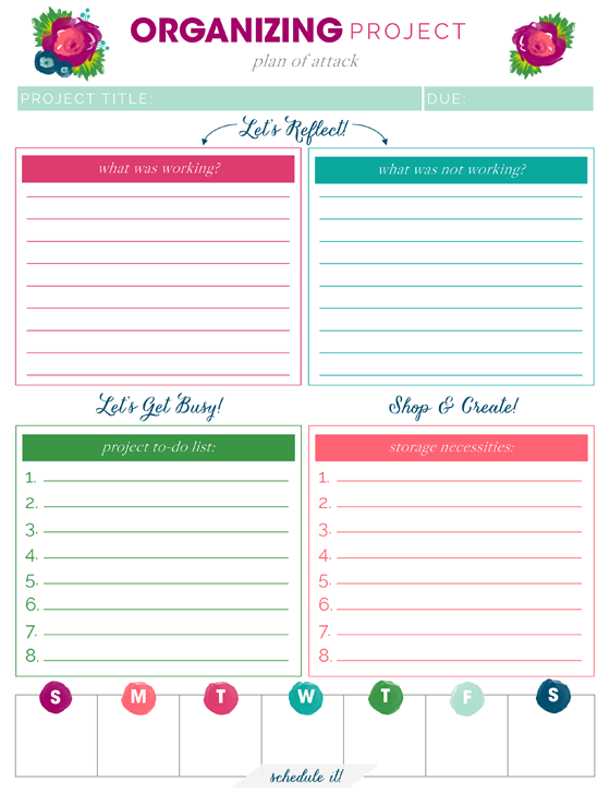 Free Printables Free Printables Project Planner And Planners - Organization printables