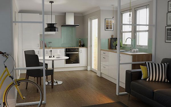 Wren Kitchens Review   White gloss kitchen Wren kitchen ...
