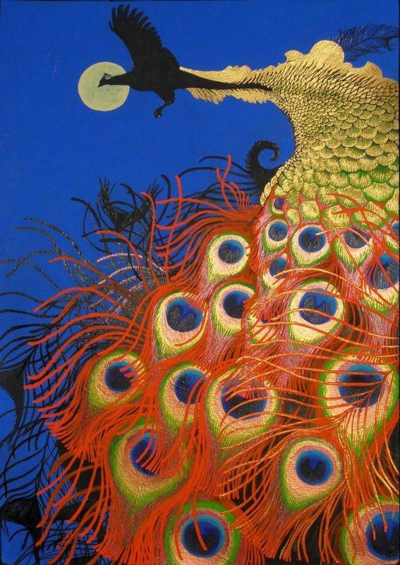 Flying Peacock by Ruth Cadioli