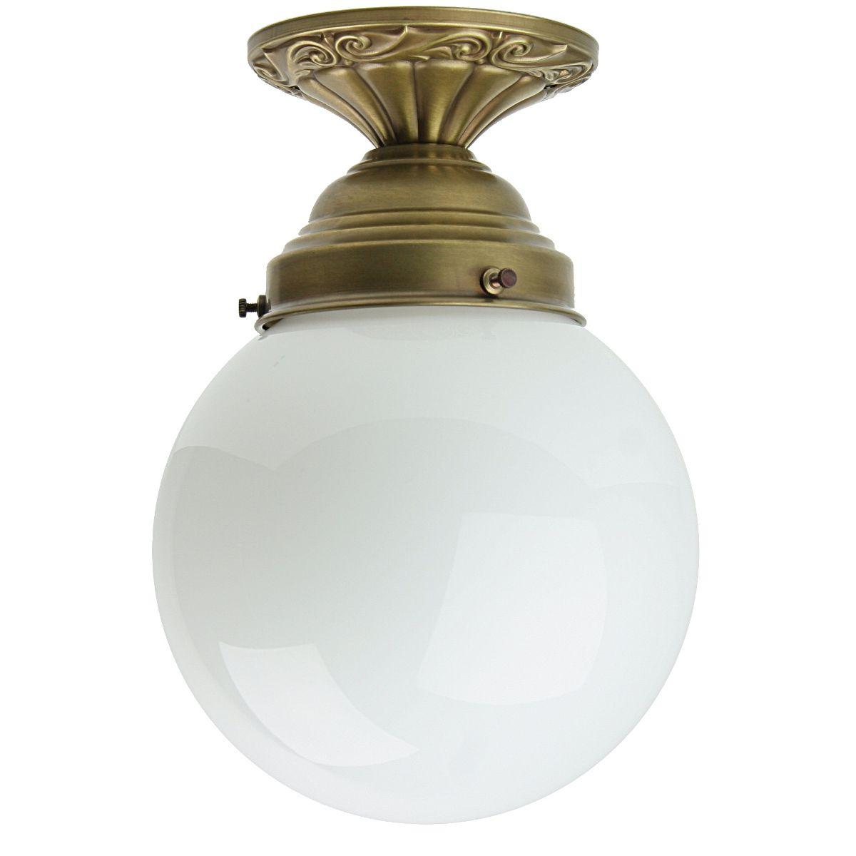 KugelglasOberfläche Design Jugendstil Deckenlampe Weißem Im Mit 8mvnwN0