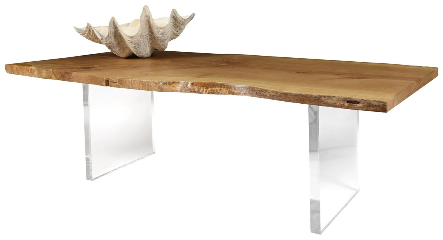 Cannes dining table contemporary midcentury modern organic acrylic wood dining room table by mimi london inc