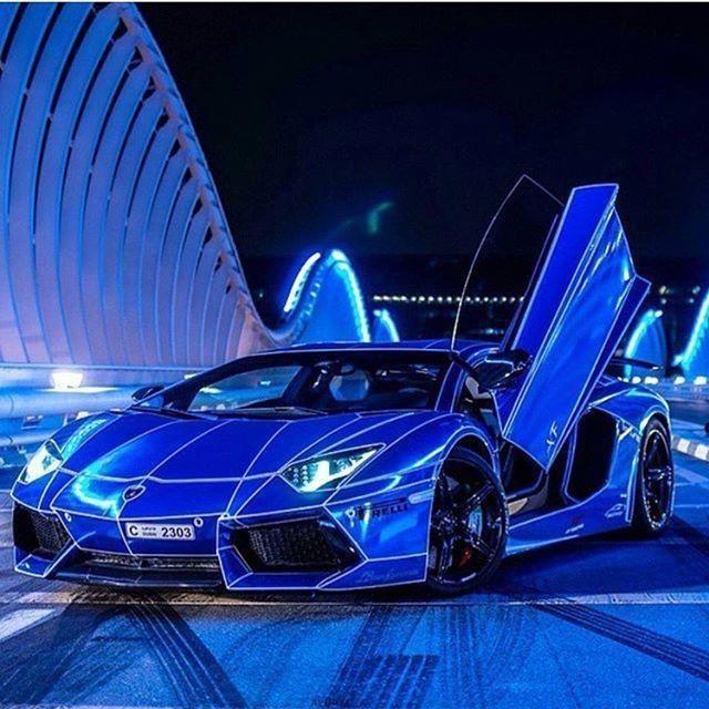 Lamborghini Aventador Blue Neon Cool Lamborghini Neon Pink