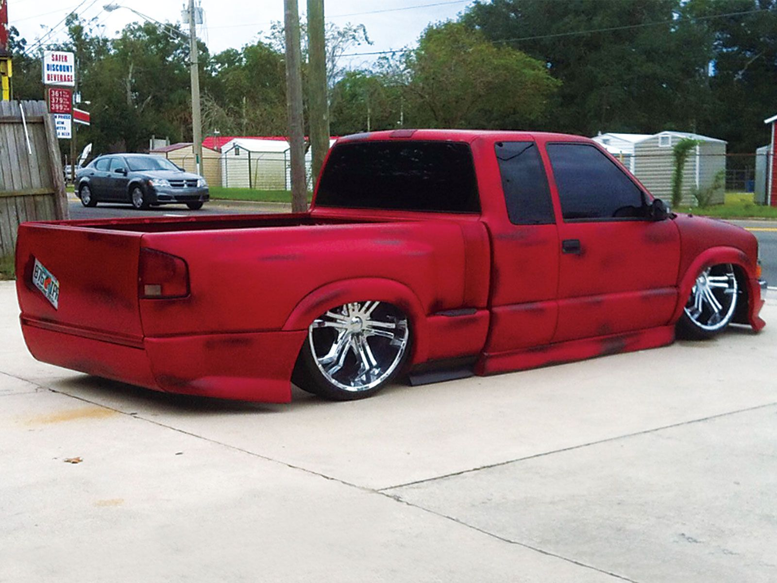 red and black 2000 Chevy S 10 Xtreme on 24s  Cars i 3